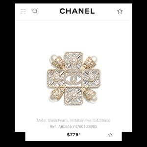 New! Chanel Pearl Brooch!